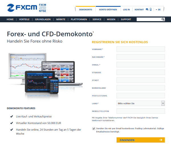 fxcm demokonto test