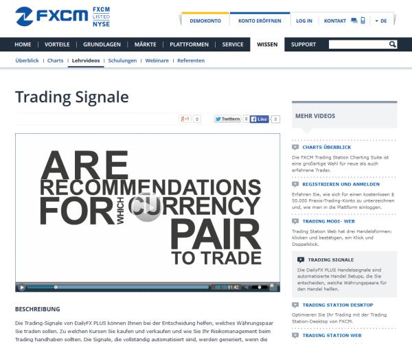 fxcm webinare, videos und lehrmaterialien