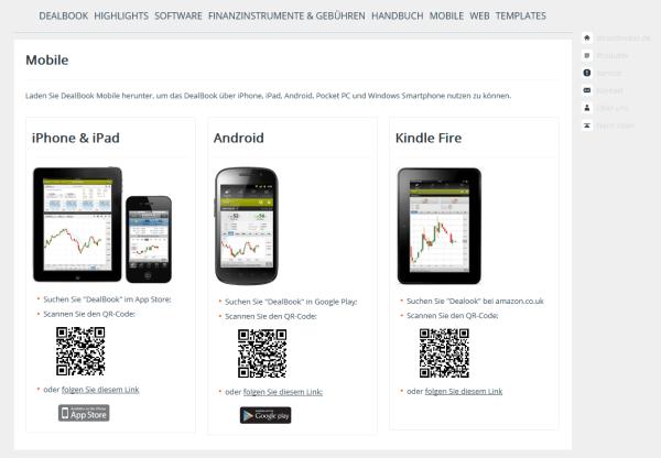 Mobile Trading Apps bei Direktbroker