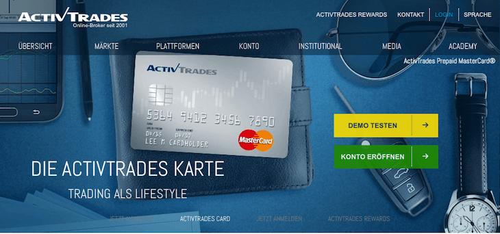 activetrades kreditkarte mastercard