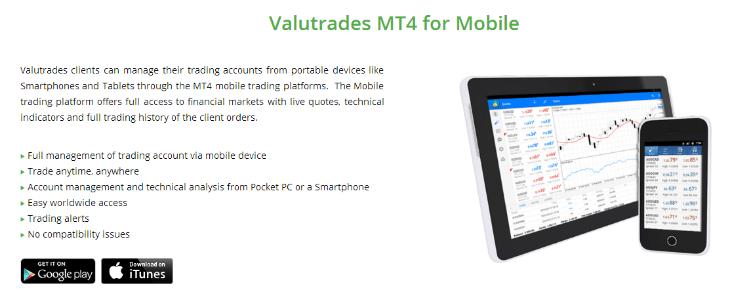 valutrades mobiler handel