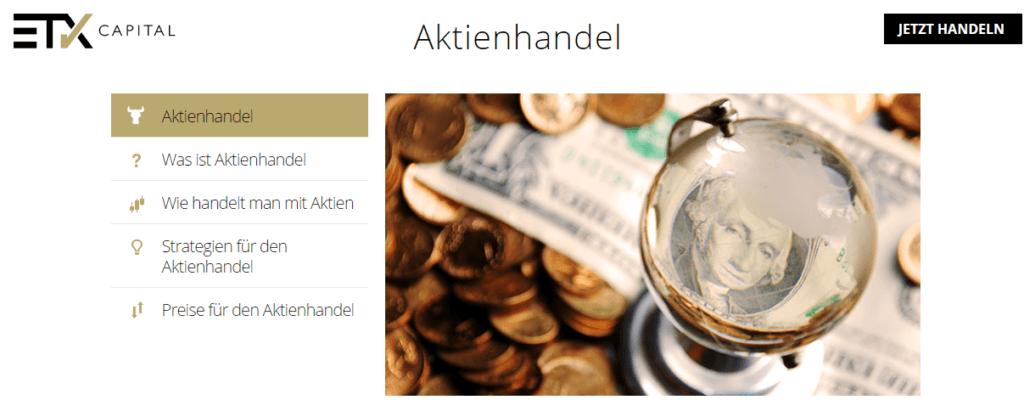 etx capital aktienhandel