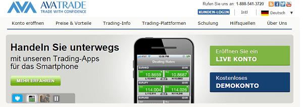 AvaTrade Trading-App
