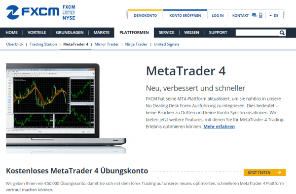 FXCM MetaTrader 4