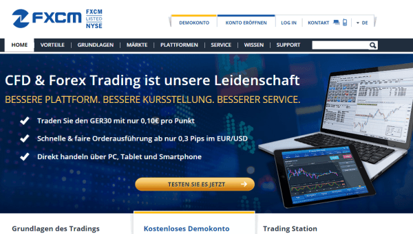 fxcm forex broker test