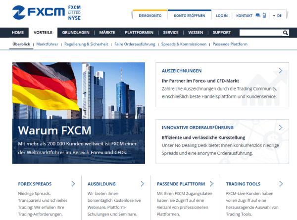 FXCM Vorteile CFD