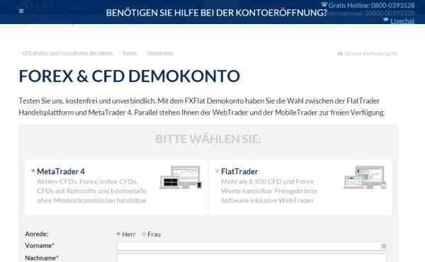 FxFlat Demokonto