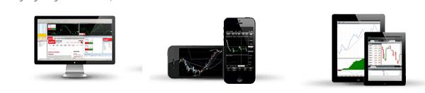Die Handelsplattformen auch als App verfügbar