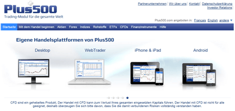 plus500 handelsplattform mobil