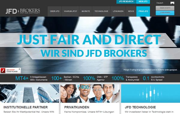 JFD Brokers steht für günstige Konditionen