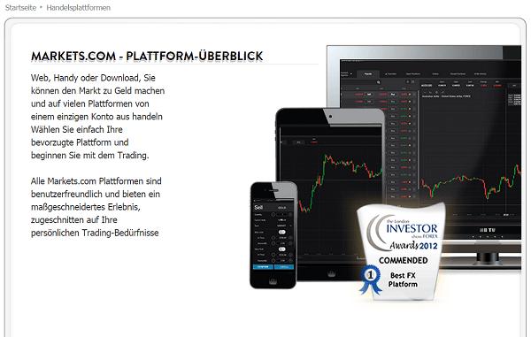 Ein Überblick über die Markets.com-Plattformen