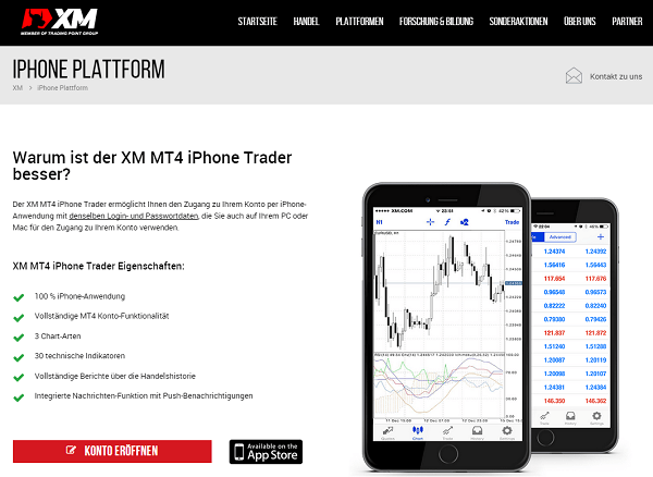 XM MT4 iPhone Trader von XM.com