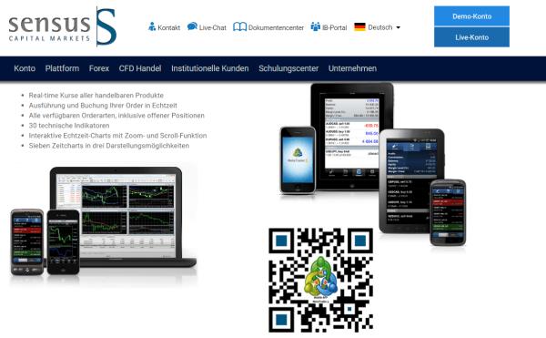 Die Plattformen bei Sensus Capital Markets