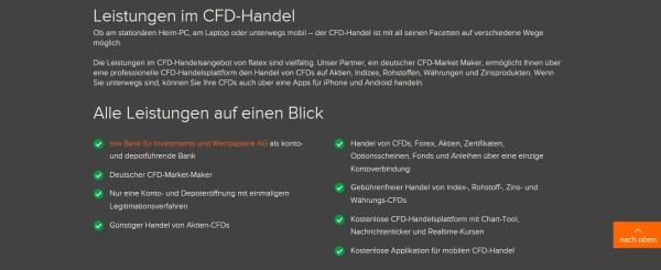 Der CFD Handel von Flatex auf einen Blick