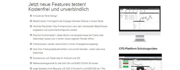 Die CFD Handelsplattform von Flatex im Überblick