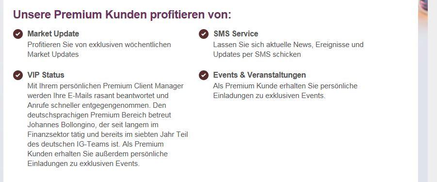 Die Vorteile des Premium Services auf einen Blick