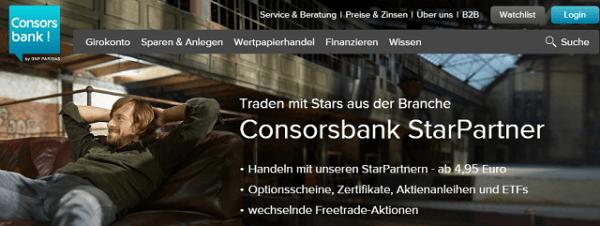 Optionsscheine bei Consorsbank handeln
