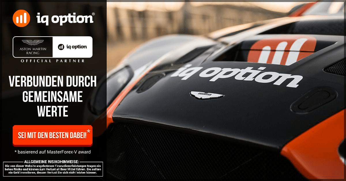IQ Option Aston Martin Partnerschaft