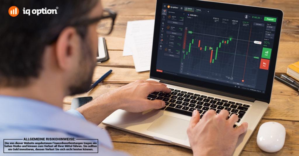 IQ Option hält eine stabile Handelsplattform für Kunden bereit