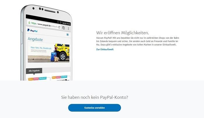 PayPal Einzahlungen