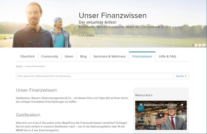 Consorsbank Finanzwissen