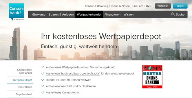 Consorsbank Wertpapierdepot