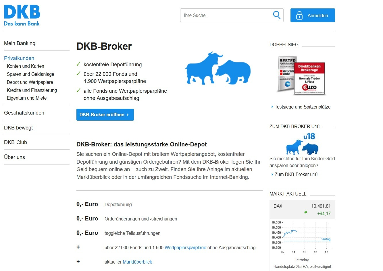 DKB Bank Depotübertrag mit Prämie