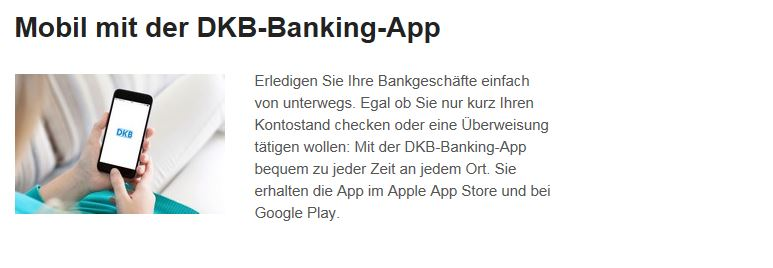 Mobile DKB Bank App kostenlos verfügbar