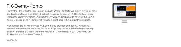 Das FX-Demokonto von Flatex