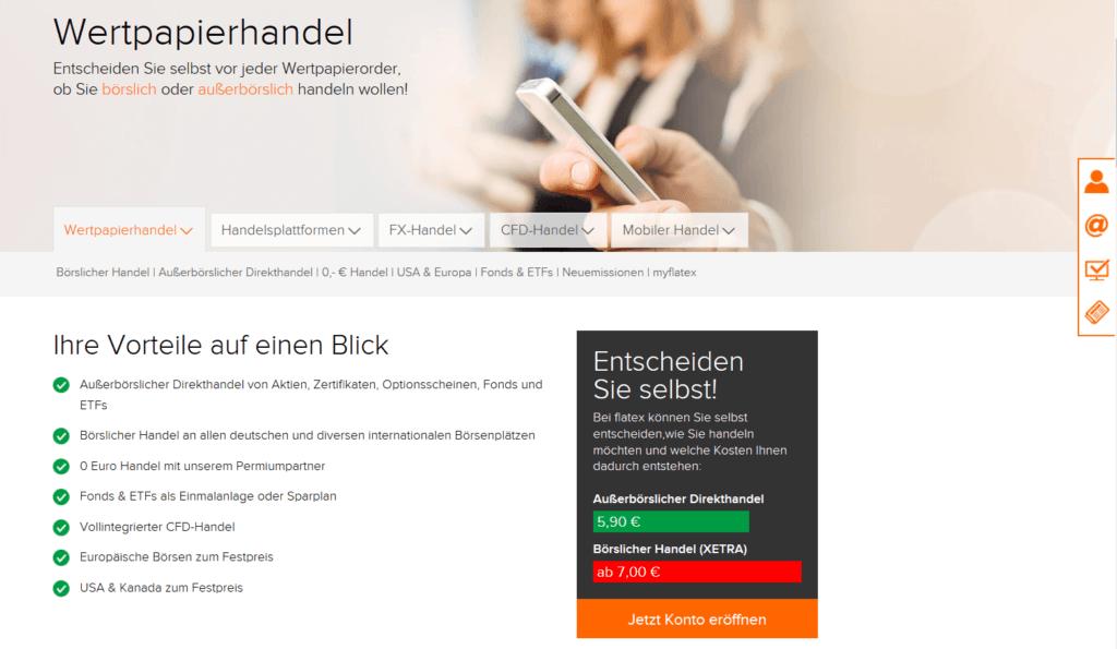 Das Angebot von Flatex im Überblick