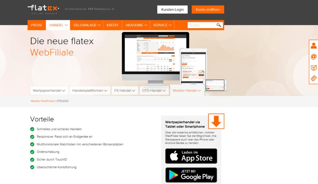 Die WebFiliale von Flatex