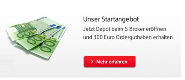 Depotübertrag S Broker mit Orderguthaben