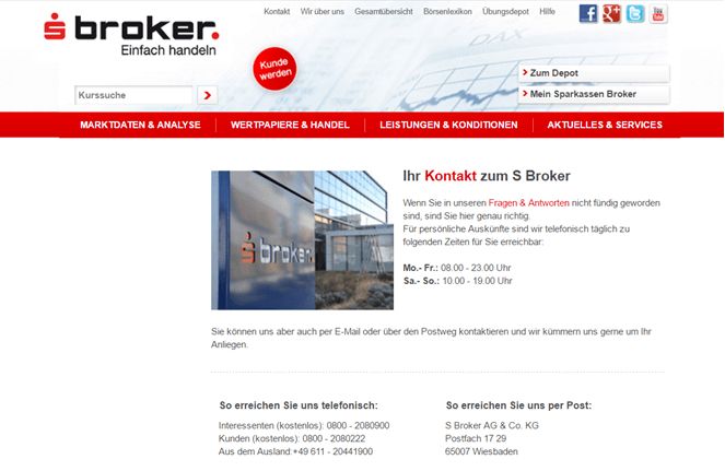 sBroker Kundenservice