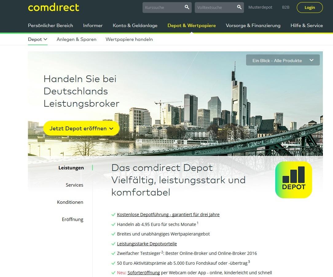 Comdirect Prämie Depot