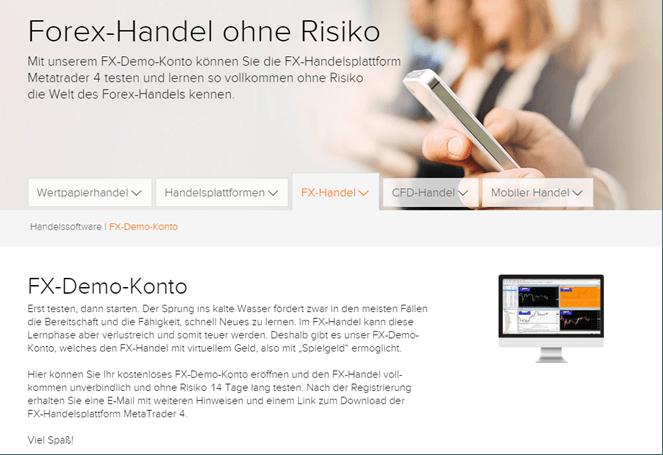 flatex Forex-Demokonto