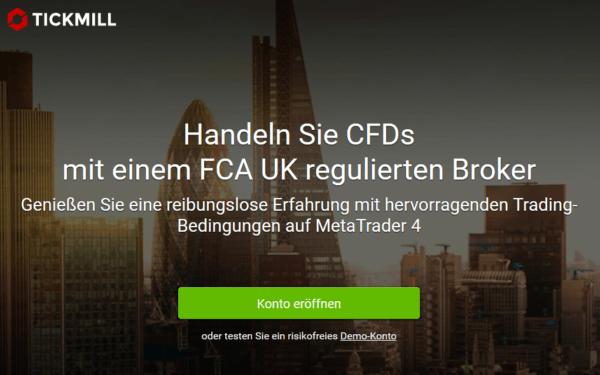 Der Handel mit CFDs auf der leistungsstarken Plattform MetaTrader 4 - Tickmill
