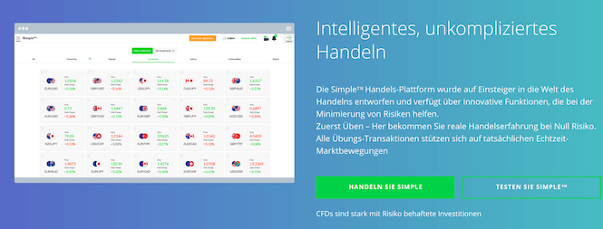 invest.com Simple-Handelsplattform
