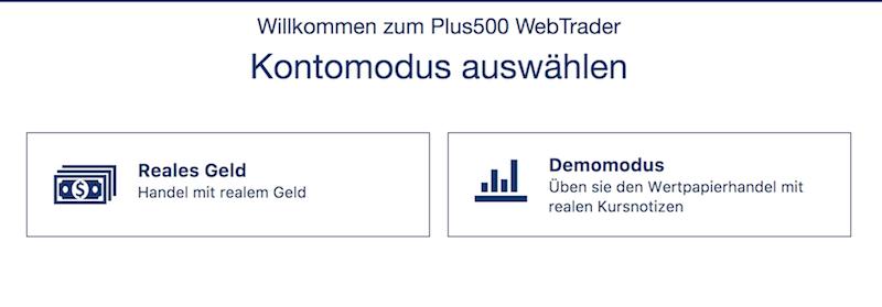Plus500 Demokonto Kryptowährungen