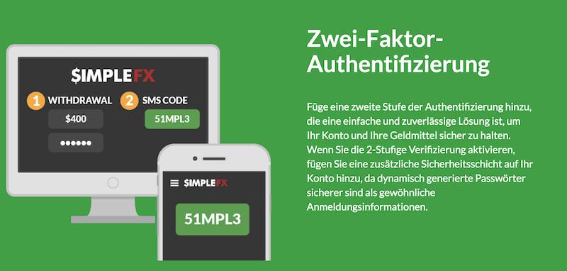 SimpleFX Ein- und Auszahlungen Sicherheit