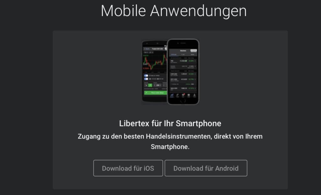 Libertex bietet 5 verschiedene Plattformen und ermöglicht auch den Handel unterwegs