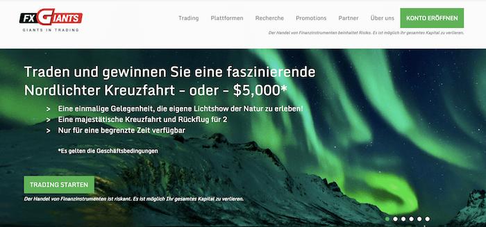 FXGiants Erfahrungen Homepage