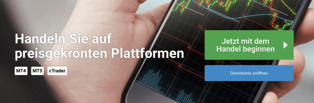 Bei FxPro sind verschiedene Plattformen und ein Demokonto verfügbar