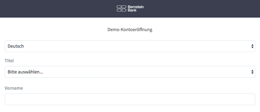 Bernstein Bank Demokonto