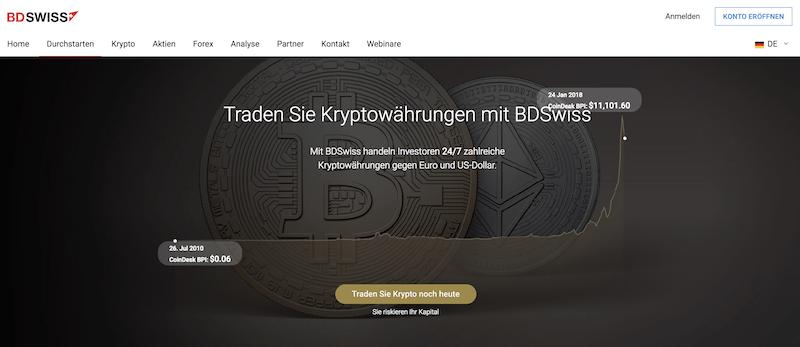 BDSwiss Kryptowährungen Handel