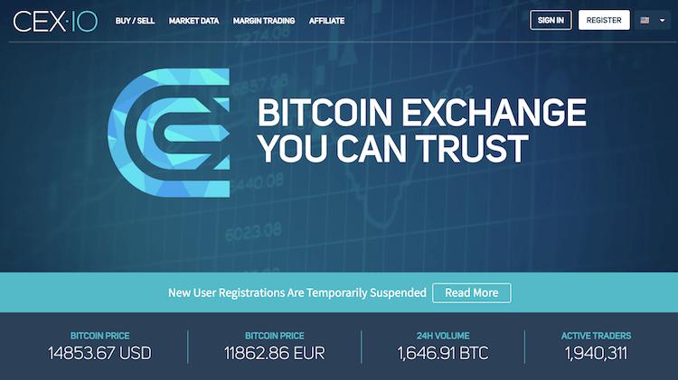 CEX.io Krypto Börse