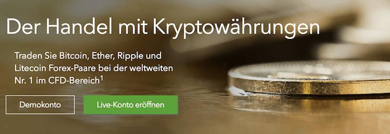 IG Handel mit Kryptowährungen