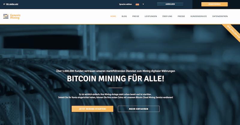 Genesis Mining Testsieger