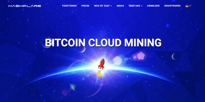 HashFlare Mining Webseite