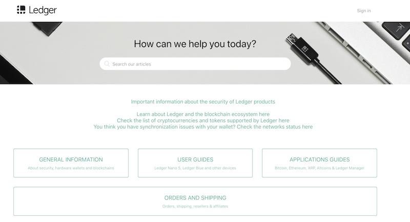 Ledger Wallet FAQ
