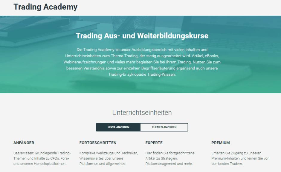 Die Trading Aus- und Weiterbildung von XTB auf einen Blick